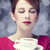 Redhead girl with coffee cup. St. Valentine's Day. stock photo © Massonforstock