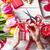 fehér · kaukázusi · női · kezek · csomagolás · tulipánok - stock fotó © massonforstock
