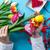 női · kezek · tart · tulipán · virág · tavasz - stock fotó © Massonforstock