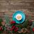 csésze · kávé · gyönyörű · karácsony · díszítések · csodálatos - stock fotó © massonforstock