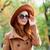 женщину · Hat · Солнцезащитные · очки · пляж · морем - Сток-фото © massonforstock