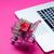 красивой · Корзина · Cool · ноутбука · замечательный · розовый - Сток-фото © massonforstock