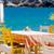 Yunan · tablo · sandalye · mavi - stok fotoğraf © massonforstock