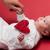 copil · roşu · forma · de · inima · jucărie - imagine de stoc © Massonforstock
