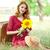 meisje · zonnebloem · outdoor · vrouwen · mode - stockfoto © Massonforstock