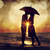 couple kissing under umbrella at the beach in sunset photo in o stock photo © massonforstock
