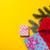 Дед · Мороз · Hat · подарки · желтый · красный · настоящее - Сток-фото © Massonforstock