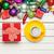 gyönyörű · csésze · kávé · tányér · karácsony · díszítések - stock fotó © massonforstock