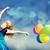 kız · renk · balonlar · fotoğraf · bokeh - stok fotoğraf © Massonforstock