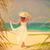 kadın · başvurmak · yer · beyaz · mayo · kırmızı - stok fotoğraf © massonforstock