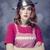 домохозяйка · голову · девушки · лице · обеда - Сток-фото © Massonforstock