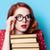 velho · livros · óculos · estilo · vintage · topo - foto stock © massonforstock