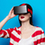 woman with virtual reality gadget stock photo © massonforstock