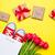 köteg · piros · tulipánok · gyönyörű · ajándékok · csodálatos - stock fotó © massonforstock