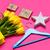 bunch of beautiful yellow tulips in cool yellow shopping bag ha stock photo © massonforstock