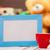 мишка · Кубок · кофе · чай · Рождества · улыбка - Сток-фото © massonforstock