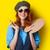驚いた · 赤毛 · 少女 · ブラシ · パレット · 黄色 - ストックフォト © Massonforstock