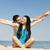 красивой · пару · пляж · девушки · счастливым · морем - Сток-фото © Massonforstock