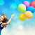 redhead girl with colour balloons stock photo © massonforstock