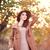 vrouw · zak · najaar · tijd · outdoor · meisje - stockfoto © Massonforstock