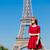 Párizs · nő · Eiffel-torony · lány · eszik · francia - stock fotó © massonforstock