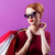 женщину · красное · платье · красочный · изолированный · белый - Сток-фото © massonforstock