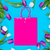 mooie · roze · tulpen · witte · papier · Blauw - stockfoto © massonforstock
