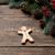 mézeskalács · ember · fából · készült · karácsony · díszítések · étel · zöld - stock fotó © massonforstock
