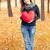 vörös · hajú · nő · lány · játék · szív · ősz · park - stock fotó © massonforstock