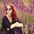 lavendel · veld · zonsondergang · bloemen · zon · schoonheid · veld - stockfoto © massonforstock