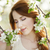 tienermeisje · bloesem · boom · bloemen · voorjaar · gras - stockfoto © Massonforstock