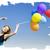 meisje · kleur · ballonnen · foto · bokeh - stockfoto © massonforstock