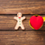 heart shape toy and gingerbread man stock photo © massonforstock