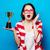 女性 · 赤 · カップ · レトロな · ブロンド · ヴィンテージ - ストックフォト © massonforstock