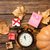 pumpkin and alarm clock with gifts stock photo © massonforstock
