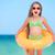 nino · gafas · de · sol · inflable · anillo · playa · agua - foto stock © Massonforstock