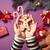 kezek · tart · mézeskalács · ember · süti · női · karácsony - stock fotó © Massonforstock
