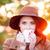 vrouw · beker · thee · koffie · outdoor · najaar - stockfoto © Massonforstock