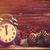 oude · Rood · analoog · wekker · gekleurd - stockfoto © massonforstock