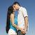 piękna · para · całując · Błękitne · niebo · kobieta · plaży - zdjęcia stock © Massonforstock