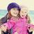 deux · soeurs · ans · vieux · plage · ensoleillée - photo stock © massonforstock
