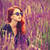 girl with sunglasses on lavender field stock photo © massonforstock