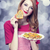 redhead women with cookie stock photo © massonforstock