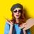 驚いた · 赤毛 · 画家 · ブラシ · パレット · 青 - ストックフォト © Massonforstock