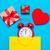 vermelho · coração · bolsa · de · compras · branco · moda · modelo - foto stock © massonforstock