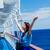 genç · kadın · tekne · sevimli · gözlük · gülen · mutlulukla - stok fotoğraf © massonforstock