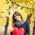menina · brinquedo · coração · outono · parque - foto stock © massonforstock