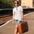 jóvenes · moda · nina · maleta · sonrisa - foto stock © massonforstock