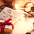 christmas gift and fairy lights stock photo © massonforstock