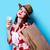 美人 · 水玉模様 · ドレス · 適用 · 口紅 · 美しい - ストックフォト © massonforstock